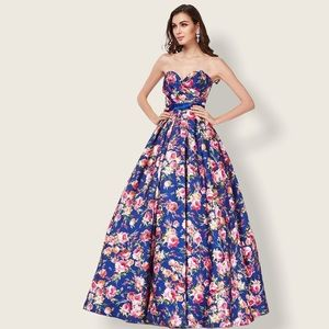 Floral Ball Gown size 8